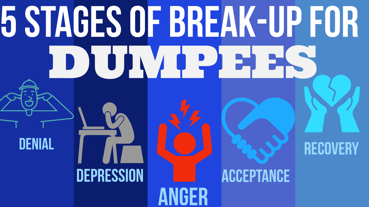 Stages of a breakup for the dumpee